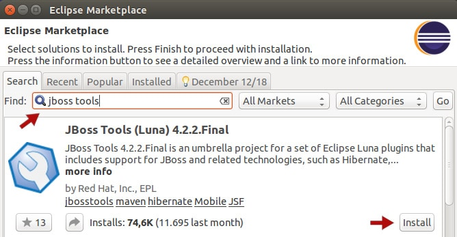 Install Eclipse Luna and Java web plugins - bgasparotto